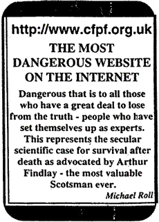 Newspaper Advert ofcfpf.org.uk